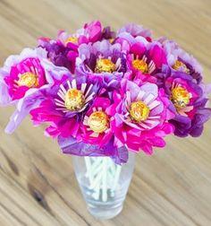 DIY lollipop flower bouquet /  Csalóka csokor krepp papír virágokkal / Mindy -  creative craft ideas