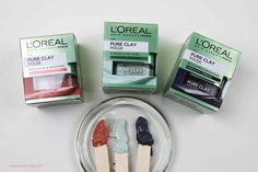 Loreal Pure Clay Mask, Clay Face Mask, Clay Faces, Skin Mask, Beauty Review, Loreal Paris, Facial Masks, Collagen, Pure Products