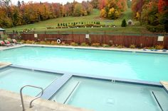 Pool and hot tubs at Grand Summit Resort Mount Snow. Day pass $15. Open year round