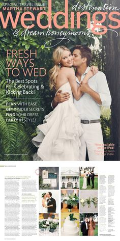 Travel Issue Martha Weddings From The Magazine