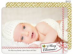 Gift Wrapped Memory Flat Holiday Photo Cards