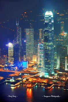 HK - Victoria Harbour by Night