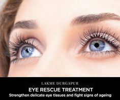 Minimize your dark circles and eye puffiness with our Eye Rescue Treatment! #LakmeDurgapur #BeautySalon