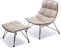 Jehs+Laub Wire Lounge Chair and Ottoman Collection for Knoll