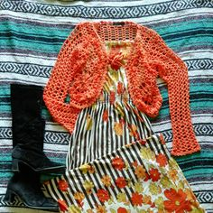 Crochet sweater from the 70s
