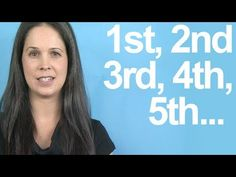 How to Pronounce ORDINAL NUMBERS -- American English - YouTube