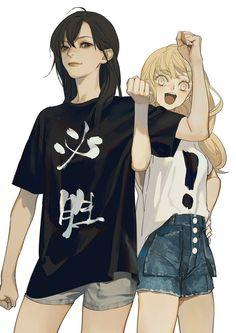 Sun jing and qiu tong Anime Girlxgirl, Yuri Anime, Fanarts Anime, Anime Love, Anime Guys, Cute Lesbian Couples, Lesbian Art, Cute Anime Couples, Lesbian Love