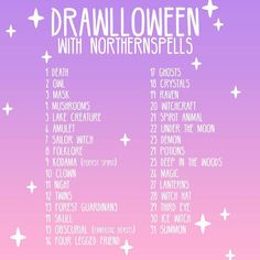 It's tomorrooowwww! I'm home sick so I hope it won't stop me from the big start of Drawlloween So happy to see how many of you that want to participate! I'm looking forward to seeing your creations! (Remember to tag them with; #northernspellsdrawlloween or else I won't find them ) My faves each day will be featured in my story, and I'll pick some of the participants to get some Halloween pins to! (Simply because I love to have a reason to give you lovely guys stuff!) ✨✨ So get your i...