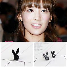 [SNSD Style] Happy Rabbit Earring(Tae-yeon) $6 on kstargoods.com