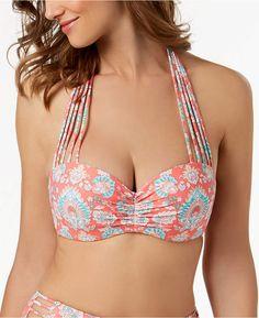 e82a622159c24 Coco Reef Bra-Size Underwire Five-Way Strappy Bikini Top Women's Swimsuit