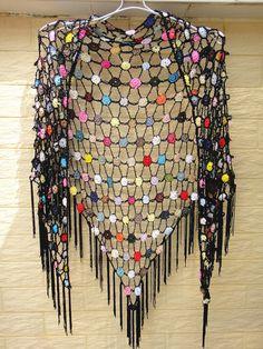 crochet shawl summer scarf