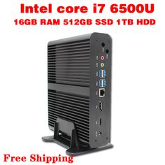 Mini PC Core i7  6500U Max 3.1GHz  16GB RAM 512GB SSD 1TB HDD Micro PC HTPC  Intel HD Graphics 520 TV BOX usb 3.0