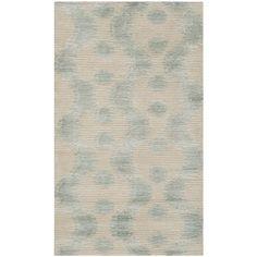 Ikat Marsh Aqua Silk/ Wool Rug