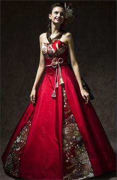 和柄ドレス