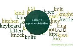 Letter K Activities - language arts, science, crafts, and more! #alphabetactivities @Momamusings.com