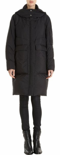 Helmut Lang Long Hooded Puffer Coat at Barneys.com