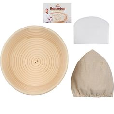 (9 Inch) The 1 Rated Banneton Proofing Basket (23 cm)   FREE Bowl Scraper and Cloth Liner - for Perfect Size Bread Shape and Flour Ring Pattern - Round Rising Rattan Wicker Handmade Dough Box Brotform ** You can find more details by visiting the image link.
