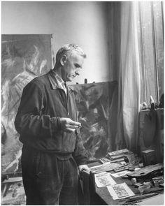 Bazaine dans son atelier 1954  Denise Colomb