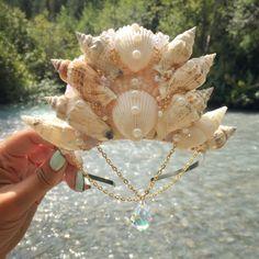 Mermaid Crown / Siren Headpiece / Boho Beach Bride / Sea Queen Costume…