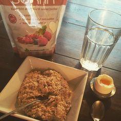 #Morgenmad#havregrød#sukrin#æg#vand - god start på dagen :) #Padgram