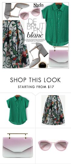 """""""Shein"""" by teoecar ❤ liked on Polyvore featuring M2Malletier, Ex Voto Paris, Prada and shein"""