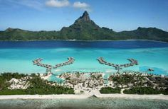 Tahiti vs. Fiji - Which One is Right For You?: Aerial view of InterContinental Bora Bora Resort & Thalasso Spa