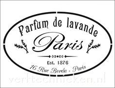 Shabby Chic sjabloon Parfum Lavande Paris