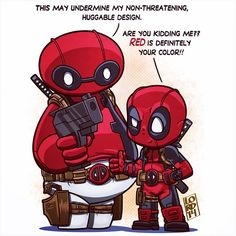 Huggable baymax and deadpool