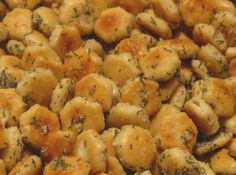 cracker snacks recipes | Oyster cracker snacks/croutons Recipe | Just A Pinch Recipes