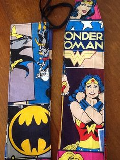 Crossfit wrist wrap in Wonder Woman / Bat Girl by BravosWraps, $20.00