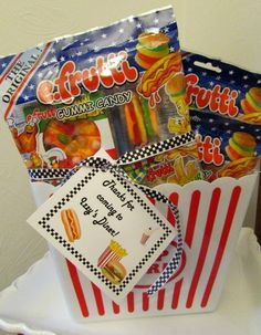 Favors at a Retro Diner Party #retrodiner #partyfavors