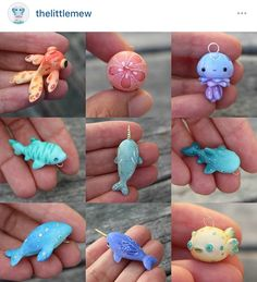 Some sea creature closeups! I wish that silly puffer fish was squishy! basteln fimo Some sea creature closeups! I wish that silly puffer fish was squishy! Fimo Kawaii, Polymer Clay Kawaii, Polymer Clay Charms, Polymer Clay Projects, Diy Clay, Clay Crafts, Polymer Clay Fish, Polymer Clay Kunst, Polymer Clay Figures