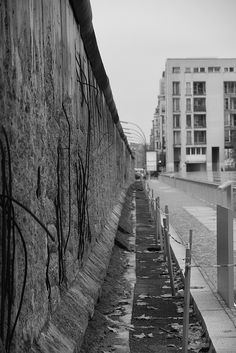 Last piece of the Berlin wall still standing. It is horrifying to see these remains while knowing what happened at this location.