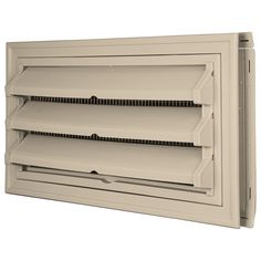 Builders Edge 140036419049 Foundation Vent Kit - Trim Ring and Fixed Louver option (Galvanized Screen) 049, Almond -- See this great product.