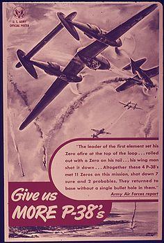P-38 Lightning Poster - Warbird Poster - Airplane Poster