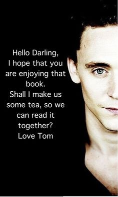 Made a Tom Hiddleston Bookmark, so I can enjoy my readings!
