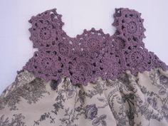 TRICO y CROCHET-madona-mía: Vestidos de Verano para niñas con aplicaciones en Crochet