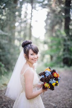 pine cone bouquet | Enchanted Forest Wedding in Oakhurst, CA » Othello Silla Photography Blog