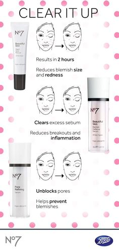 These three products work together to clear, heal and prevent acne blemishes from the inside out.