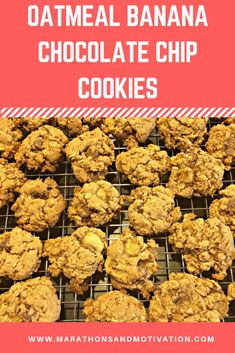 Oatmeal Banana Chocolate Chip Cookies. These cookies are great for breakfast on the go!