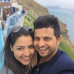 #IndianCricketer  One of the best Batsmen and fielders in the current Indian national cricket team lineup #SureshRaina shared an adorable honeymoon picture with his wife #PriyankaRaina filled with love and warmth! They are currently on a honeymoon in #France.  What do you think about this lovely couple?
