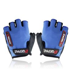 Qepae Cycling Bike Outdoor Sports Bicycle Anti-Slip Breathable Half-Finger Gloves Variety Colors,Blue,Large. Palm using slip cloth wearable, breathable, non-slip, back of the hand made of soft, breathable, quick-drying mesh. LOGO modify dimensional plastic, palm pad 5 mm thick shock silica gel, strengthen upgraded version fingers off the ropes fast, convenient care gloves. [Size]: M, L, XL(Please do choose your size only according to the size chart !).