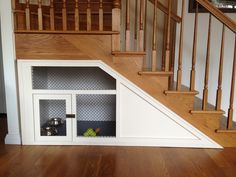 Under the stairs custom dog home by Ethan Abramson