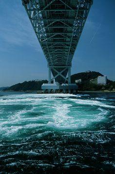 Ohnaruto Bridge, Naruto, Tokushima and Awaji Island, Japan Awaji Island, Tokushima, Hyogo, Nara, Waterfalls, Kobe, Bridges, Roads, Paths