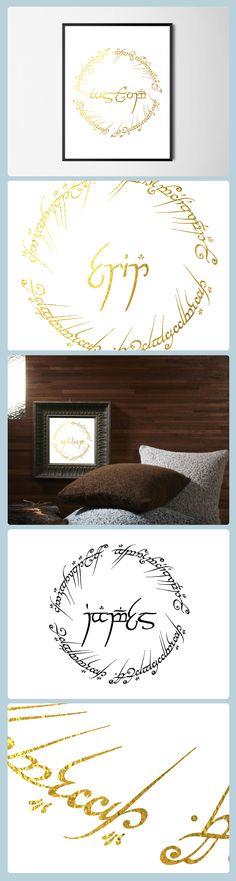 Custom elvish style wall art print. Customer favorite!