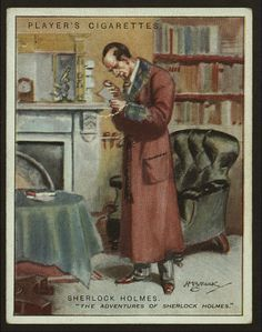 View 1 of 2 - Sherlock Holmes Player's Cigarette Card #21 of 25.