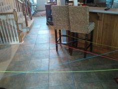 In our house the Easter Bunny leaves a different colored string with each child's name attached. They find their string and follow the maze all through the house until it leads them to their hidden basket.