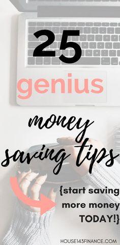 25 Genius Money Saving Tips! Save Money On Groceries, Ways To Save Money, Money Tips, Money Saving Tips, Frugal Living Tips, Frugal Tips, Budgeting Finances, Budgeting Tips, Money Saving Challenge