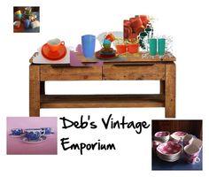 """Deb's Vintage Emporium"" by patricia-peters-1 on Polyvore featuring interior, interiors, interior design, home, home decor, interior decorating and vintage"