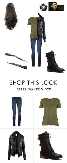 """Genderbent- Dean Winchester"" by teenriverliar98 on Polyvore featuring DL1961 Premium Denim and Topshop"